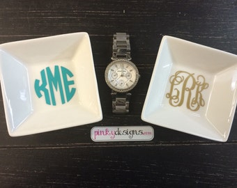 Monogram Jewelry Dish - Customizable - Choose your font and color