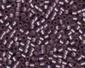 MIYUKI #11 Delica 0695 - Semi Matte Silver Lined Mulberry - 5 grams