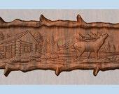 Elk Decor,  Elk Wood Carv...