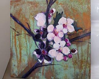 Cherry Blossom Original Oil Painting