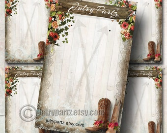 DIY Cowgirl Chic Earring Cards,  Jewelry cards,Tent Card, Earring Display, Earring Card, Necklace Holder, DIY Jewelry Cards, Printable Cards