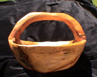 Hand carved Aspen wood Basket