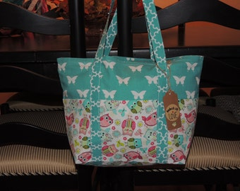 Owls and Butterflies Tote Bag