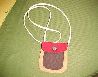 small cross-body corduroy purse ..pouch