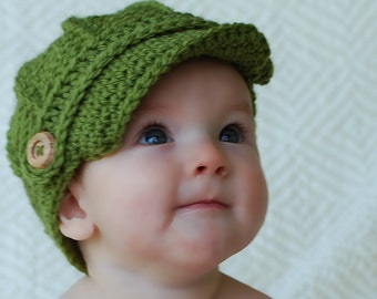 Newsboy Hat - Baby Newsboy Hat - Baby Hats - Newborn, Teen and Adult Sizes  - Newsboy Hat - Baby Hat - by JoJosBootique