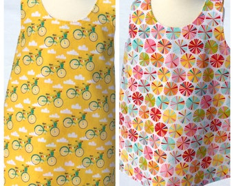 Toddler Dress Pattern, Baby Dress Tutorial, Crossover Reversible Pinafore Dress Tutorial, Instant Download PDF Pattern, Sew Your Own