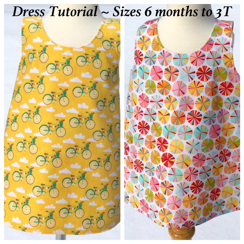 Toddler Dress Pattern Baby Dress Tutorial Crossover