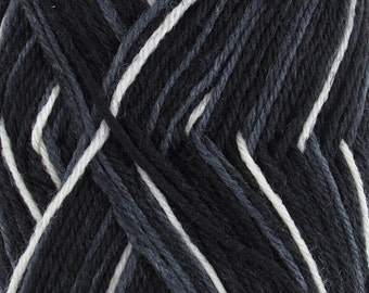 Dancing Feet Wool Blend Yarn  2 x 50g Skeins Night Sky