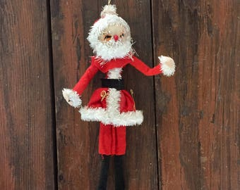 Large Santa Claus Ornament / Vintage Christmas Tree Decoration / Holiday Decor / Made in Japan