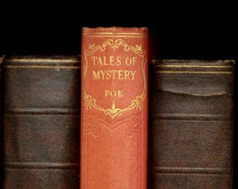 Edgar Allan Poe book Tales of Mystery and Imagination includes The Fall of the House of Usher and other stories vintage 1930s book