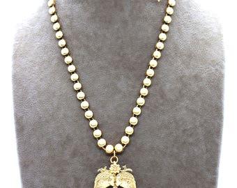 Necklace with Elephants Pendant | Temple Jewellery | Sulit London
