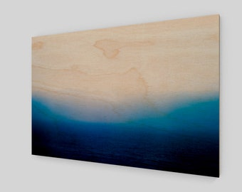 Mediterranean Sea Smoke Wood Print, 1:50 Limited Edition / home decor / decoration / photo / photography / black and white /. ocean