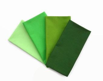 Solid Green Cloth Napkins, Set of 4 or 6, Solid Green Cotton Napkins, Green Everyday Cloth Napkin, Lime Green Napkin, Dark Green Napkin
