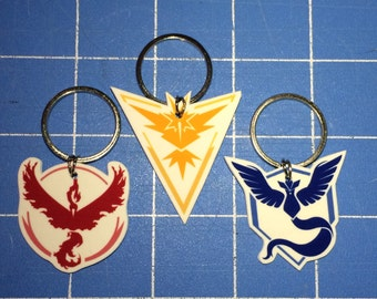 Pokemon Go - Team Mystic, Valor, Instinct Keychain, Necklace, Earrings, Charm, Stickers, Tattoos, Embroidered Patch, Magnets