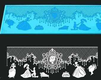Treadmill Silicone lace Romance 300 x 110 mm Cake Design