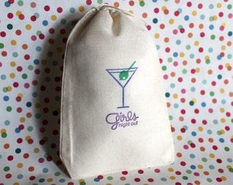 Girls Night - Martini Glass Gift Bag