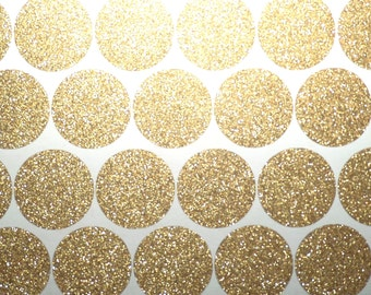80 Gold Glitter polka dots stickers, gold glitter Christmas stickers, gold envelope seal, purple glitter party decorations