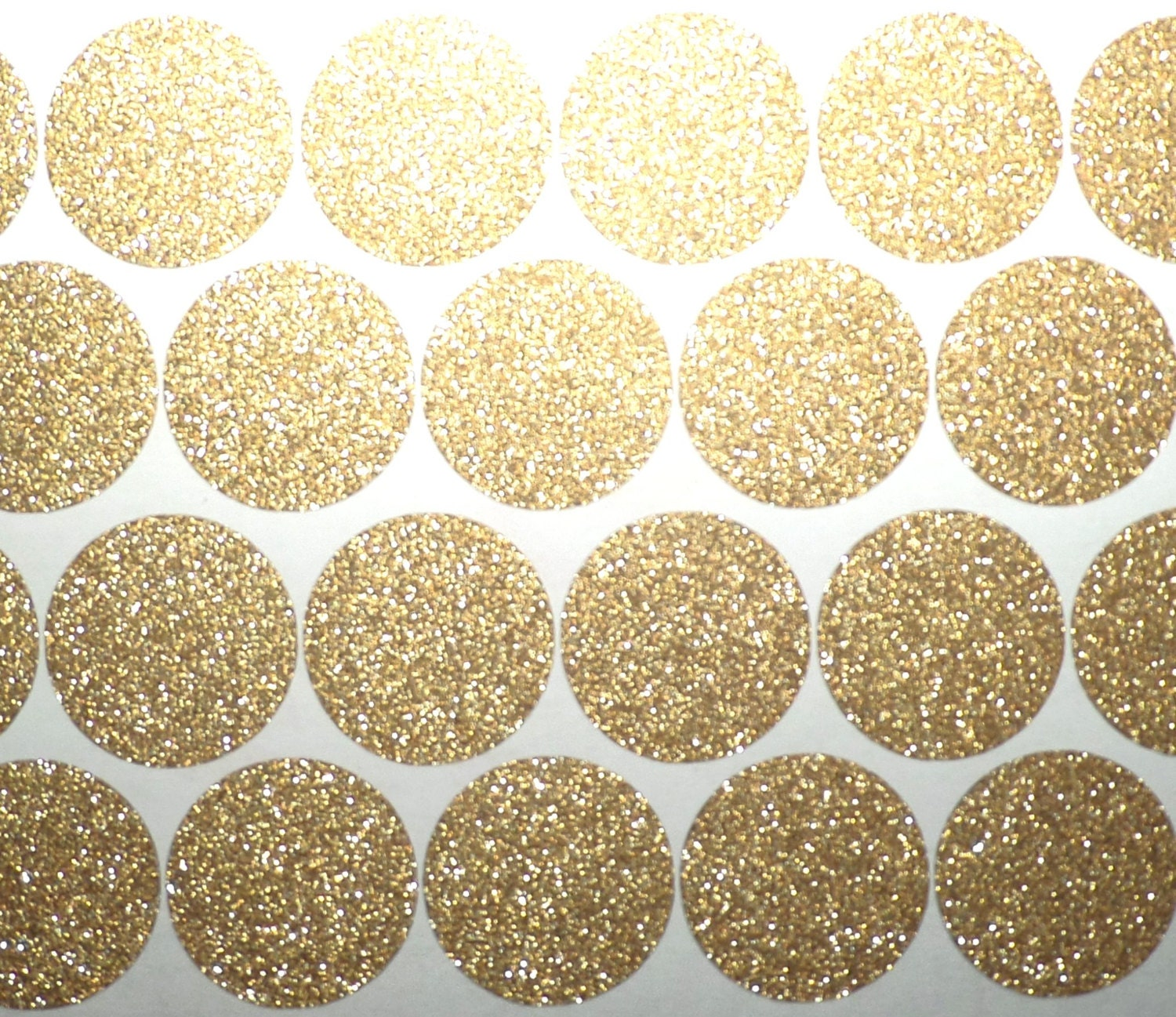80 Gold Glitter polka dots stickers gold glitter Christmas