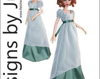 """PDF Regency Dress Pattern for 16"""" Deja Vu Doll Tonner"""