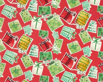 58033 1/2 yard of Kathy Davis Joyful holiday  - Gifts galore in traditional  color