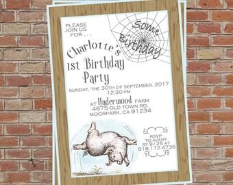 Charlotte's Web Birthday/Baby Shower Invitation . . .