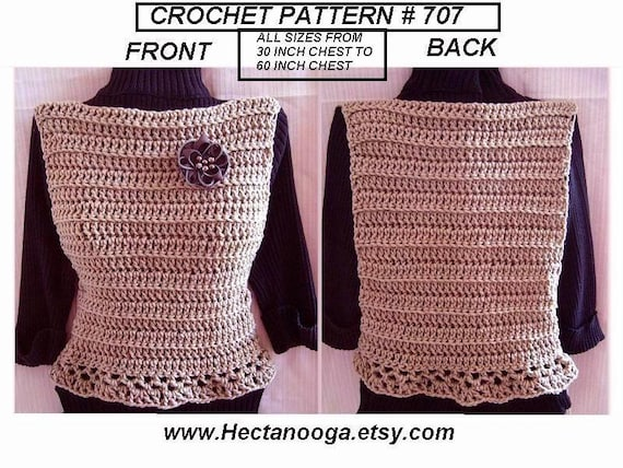 Crochet Vest Or Summer Tank Top Crochet Pattern
