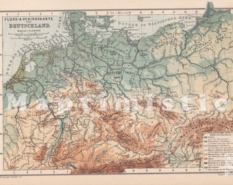 1903 Geological Map of the Harz Mountains Lower Saxony