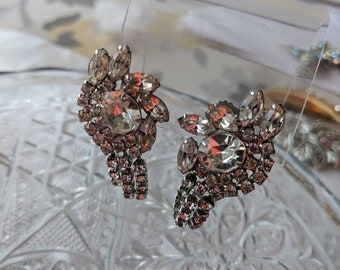 Bride Ready Clear Rhinestone Clip On Earrings