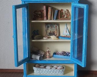 Dollhouse Miniature Sea Cabinet, scale 1/12