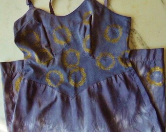 Tie Dye Slip Dress BOHO Slip Dress, Upcycle Slip