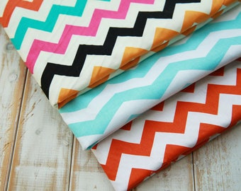 American fabric Brother Sister colorful orange red zigzag 110 * 50 cm