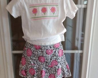 Girl's T-Shirt, Skirt and Leggins size 3-4