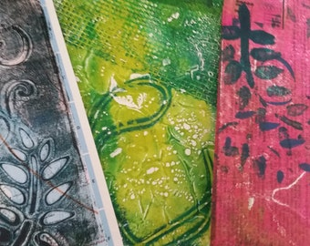 Gelli Prints, Collage Papers, Background Papers