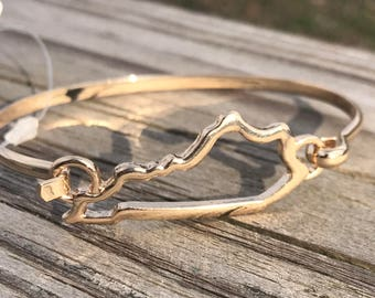 Gold Kentucky Bracelet / Gold Bangle Bracelet / Kentucky Bracelet / Kentucky Jewelry