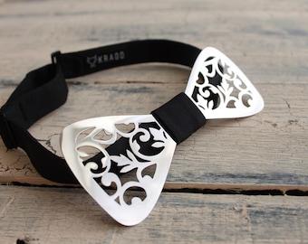 Metal bow tie Silver bow tie Mens bow tie Men metal bow tie Women bowtie Luxurious bow tie Pre-tied bowtie Accessory for gentlemen Exclusive