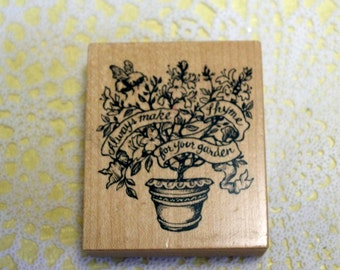 PSX Make Thyme Wood Mounted Stamp