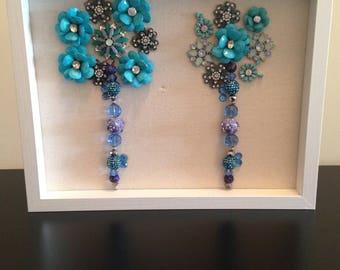 Jeweled Shadow Box Wall Art