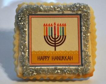 Happy Hanukkah 1 dozen shortbread cookies