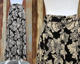 Elegant Floral Maxi Skirt