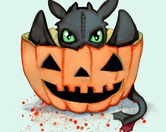 Halloween Dragon Fine Art Print