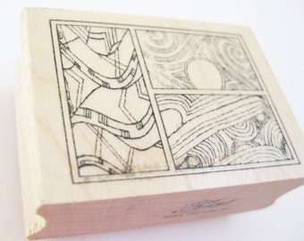 Geometric Abstract Art Papercraft Rubber Stamp Club Scrap Brand DIY Planner Supply Goody Art Craft Scrapbooking Card Making Stamping Supply