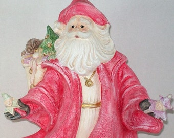 Christmas Santa  / Santa Statue / Christmas Decoration / Santa Decor / Holiday Decoration / Christmas Table Decoration