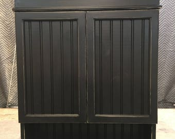 Distressed Black Cabinet, Bathroom Cabinet, Kitchen Cabinet, Hanging Wall  Cabinet, Shabby Chich