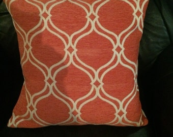 Pillow cover. Orange pillow. Envelope closure . Decorator pillow. Throw pillow accent pillow. Sofa pillow. Chenelle pillow cover.shams.
