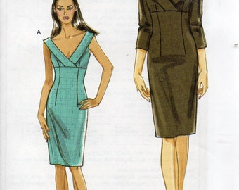 Very Easy Vogue Pattern 8532 EMPIRE WAIST DRESS Misses Sizes 12 14 16 18