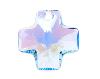 Aquamarine AB 6866 - Swarovski Crystal Cross Pendant (20mm)