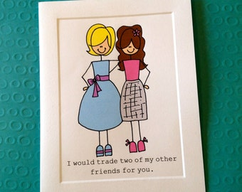 Best Friend Thank You CARD