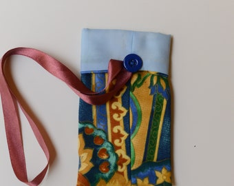Fabric phone pouch