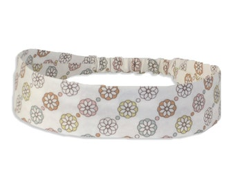 """Fabric Headband - Moondance - with covered elastic -  Pick your size - sizes to fit toddlers to adults - 1-1/2"""" widestocking stuffer"""