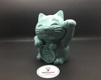 "Maneki-Neko ""beckoning cat"" (Money Cat, Lucky Cat, Fortune Cat, Happy Cat) Polished Vinyl Figurine"